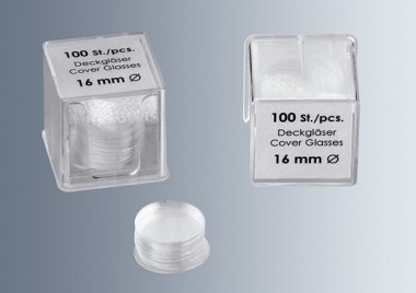 Cover glasses No. 1, 14 mm dia.