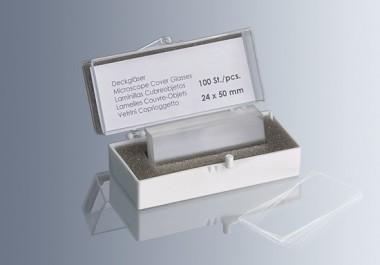 Cover glasses No. 1, 24x50 mm