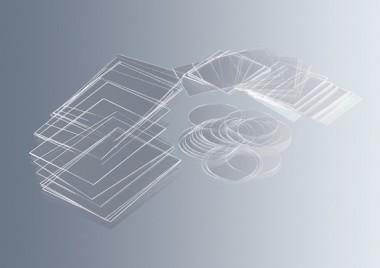 Cover glasses, 22 mm diameter