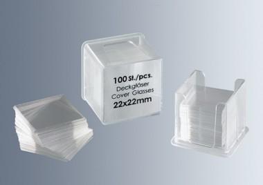 Cover glasses No. 1, 16x16 mm