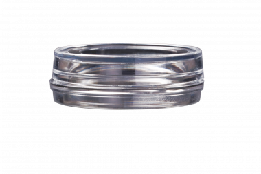 HBST-3512 dish &lid, 35x10mm., glass aperture 12 mm.