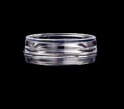 GWST-3522 dish(&lid), side view, glass aperture 22 mm..