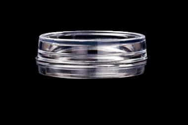 HBST-3512 dish &lid, 35x10mm., glass aperture 12 mm.