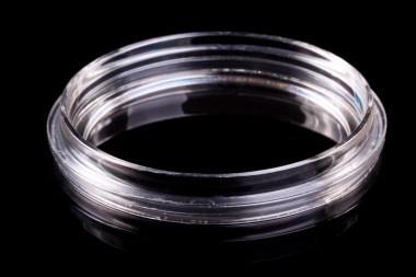 KIT-5040 dish (&lid). Size: 50x7 mm. Glass aperture 40 mm. With 'Safe Grip' rim.