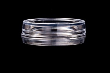 KIT-3512. Do-It-Yourself 'Series KIT-3512' glass bottom dish, with 'Safe Grip' rim. (35 mm.)